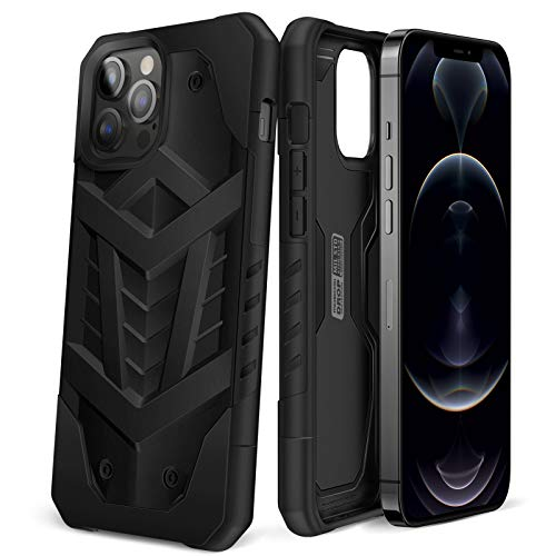 MOBOSI Pavis Case Compatible with iPhone 12 Pro Max 5G (2020), Armor Military Grade Shockproof Drop Protection, Heavy Duty Rugged Cell Phone Cover 6.7 Inch, Black