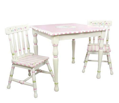 Fantasy Fields By Teamson Kindertisch, Mischung aus MDF und Massivholz (Eco – freundlich), pink/weiß, 71.12x71.12x62.23 cm