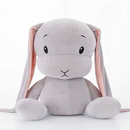 KXCAQ 25—60 cm Lindo Conejo de la Suerte de Peluche de Juguete Suave Conejo muñeca bebé Abrazo Animal Durmiente Juguete para niños cumpleaños 65cm Gris
