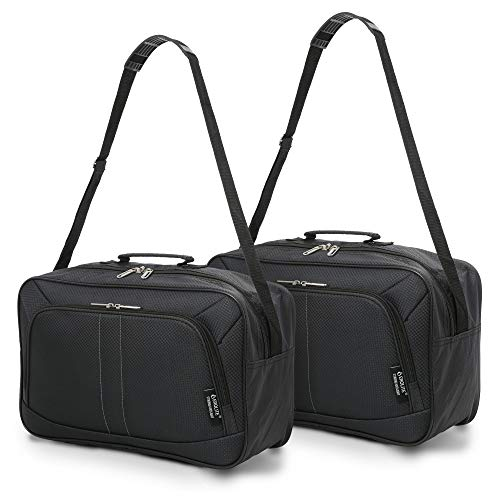 2PCS 16-inch Aerolite Carry On Hand Luggage Flight Duffle Personal Bag Underseat