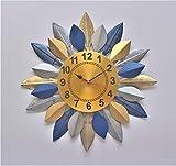 The Indie Quirk - Reloj de pared (48 cm), diseño de hojas grandes