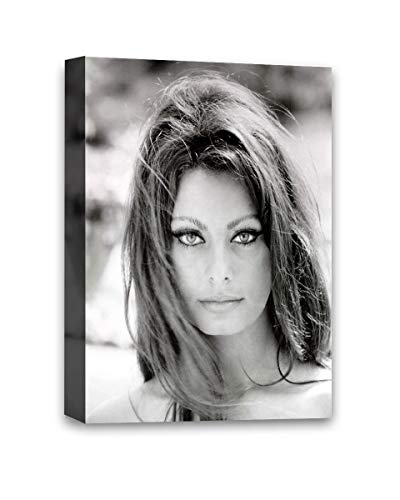 Funny Ugly Christmas Sweater Cute Sophia Loren Monochrome Decor Gifts Sophia Loren Classic Portrait Sofia Loren Canvas Printed Poster Italian Retro Wall Art Old Movie 8' x 12'