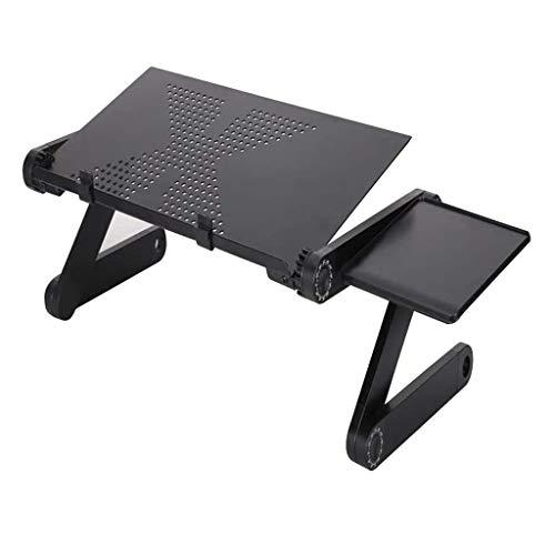 Verstelbare Laptop-Bureautafel, Draagbare Laptop-Bureau-Pc-Bank Met Warmteventilatie Verwijderbaar Muisbord, Verwijderbare Muislade Antislipbalk Voor Werk Lezen Schrijven Tekenen Gamen