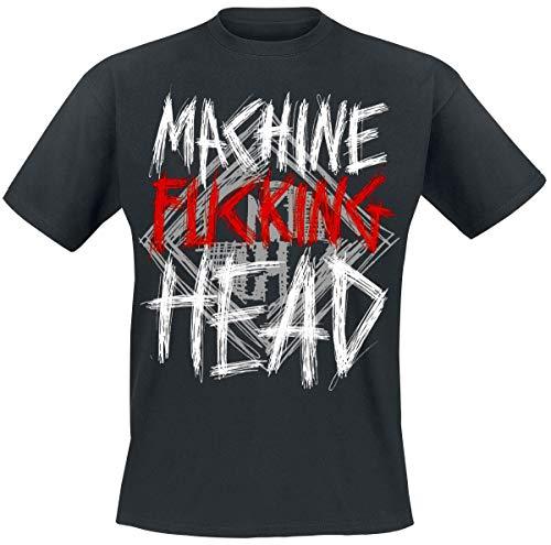 Machine Head Bang Your Head Männer T-Shirt schwarz XXL 100% Baumwolle Band-Merch, Bands