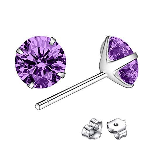 jieGorge Earrings for Women , Classic Sterling Silver Stud Earrings, Hypoallergenic Earrings , Gifts for Women and Girls (PP5)