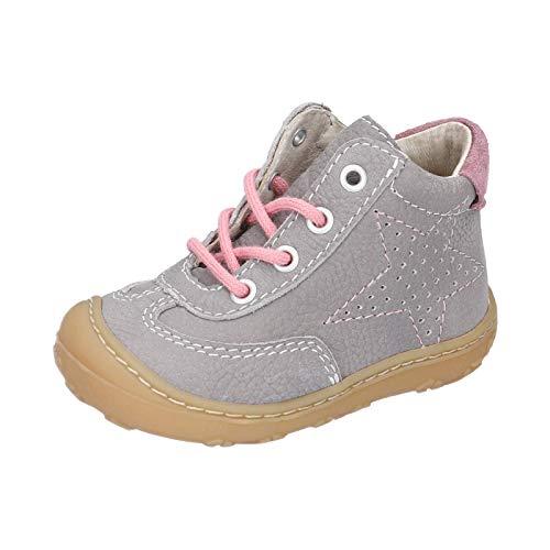 RICOSTA Kinder Lauflern Schuhe SAMI von Pepino, Weite: Mittel (WMS), Kinderschuhe Spielen detailreich Freizeit,grau/Blush,23 EU / 6 Child UK