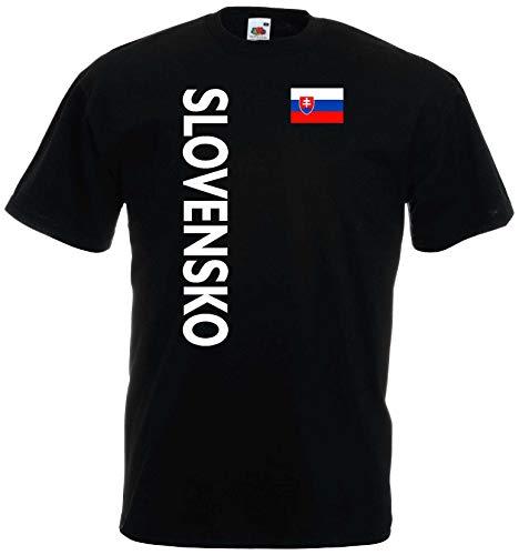 world-of-shirt Herren T-Shirt Slowakei/Slovensko Trikot 2-