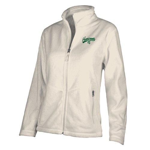 NCAA Miami Hurricanes W Luxe Jacket, XX-Large, Gardenia