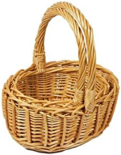 Set of 6 Catering Oval Bamboo Basket