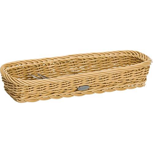 Saleen Besteck-Korb, Gastrotauglich, Rechteckig, 28 x 11 x 5 cm, Kunststofffaser, Hellbeige, 02016930101