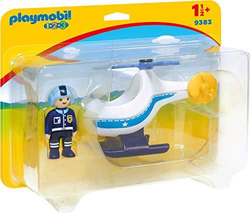 PLAYMOBIL- 1.2.3 Toy Police Helicopter, Multicolor (Geobra Brandstätter 9383)