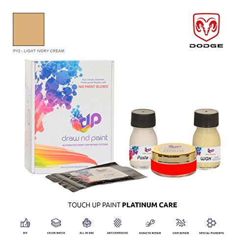 DrawndPaint for/Dodge Ram Van/Light Ivory Cream - PY2 / Touch-UP Sistema DE Pintura Coincidencia EXACTA/Platinum Care