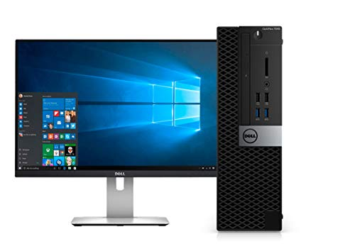 Dell Optiplex 7040 Small Form Factor Desktop PC, Intel Core i7-6700, 32GB Ram, 2TB SATA Drive + 256GB SSD WiFi, DVD-RW, 24