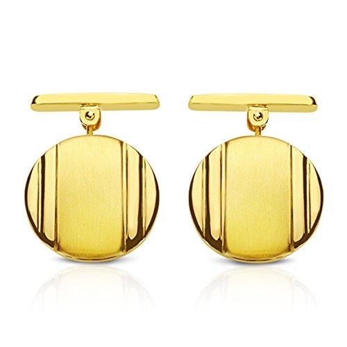 Boutons de manchette Homme George or jaune 1 Loi 750 18 carats