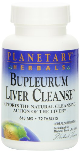 Planetary Herbals Bupleurum Liver Cleanse 545mg - With Calcium, Cypress Rhizome, Ginger & More - 72 Tablets