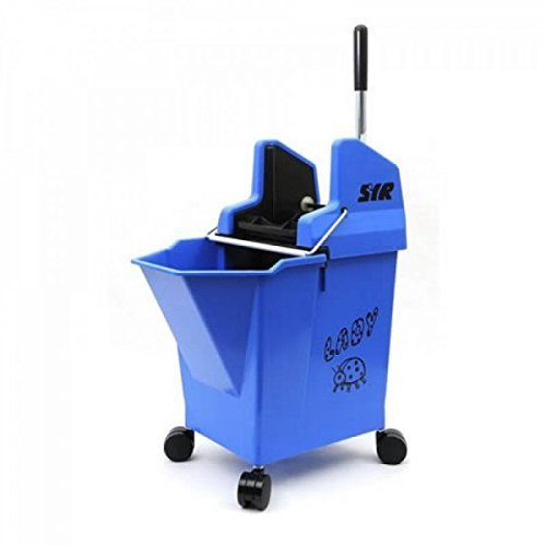Professional SYR Kentucky style Lady Bug Mop Bucket (BLUE) with Wringer by SYR
