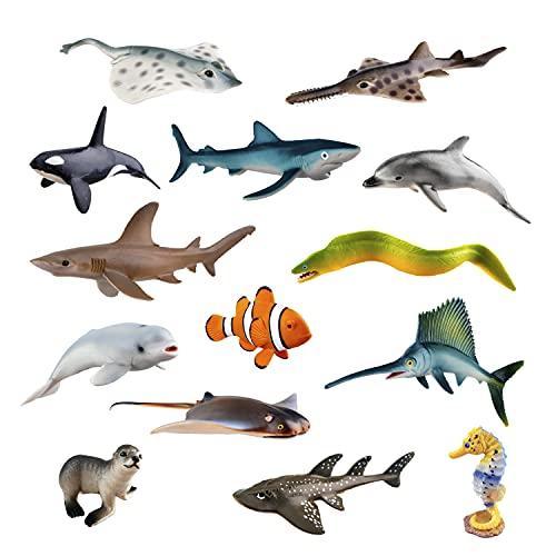 TOYMANY 14PCS Realistic Sea Animals…