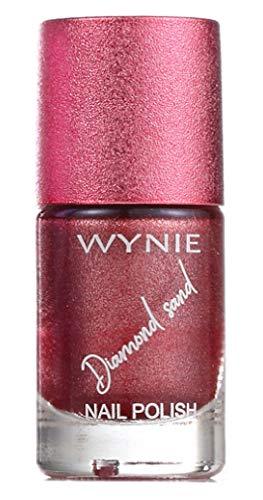 WYNIE Diamond Sand Nail Polish - Esmalte de uñas secado rá
