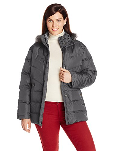Larry Levine Women's Faux Fur Trim Down