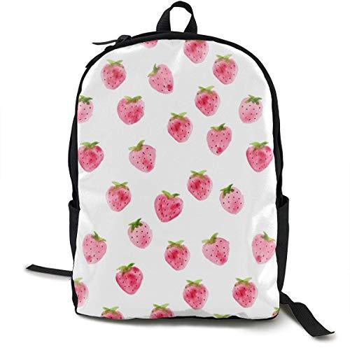 Strawberry Travel Computer Bag Laptop Backpack Unisex, School College Fits 15'' Laptop BAG-192