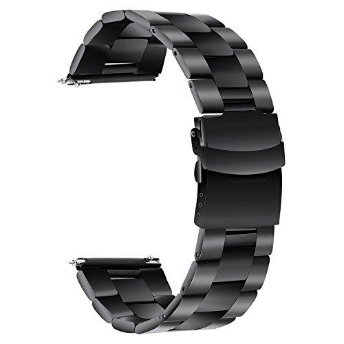 TRUMiRR Cinturino in Acciaio Inossidabile per la Cintura di Sicurezza in Acciaio Inossidabile 22mm per Samsung Gear S3 Classic Frontier, Moto 360 2 46mm, ASUS ZenWatch 1 2 Uomo, LG G Watch Urbane