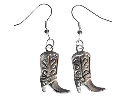 Miniblings Cowboystiefel Cowgirl Western Ohrringe - Handmade Modeschmuck I Cowboy Reiten Stiefel - Ohrhänger Ohrschmuck versilbert