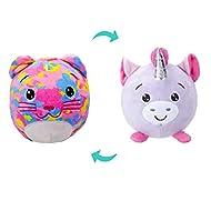 Squishimi Flipem Unicorn to Cat Reversible Soft Plush Animal Teddy, 2 in 1 Interactive Toy - 9cm