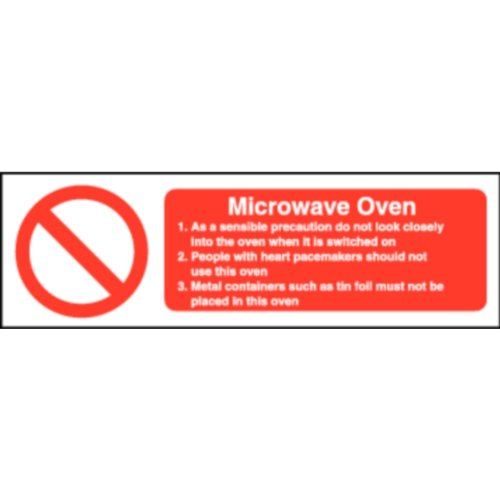 Stalwart Equipment Supplies UK W231Sicherheit Zeichen, Mikrowelle, 100mm x 300mm
