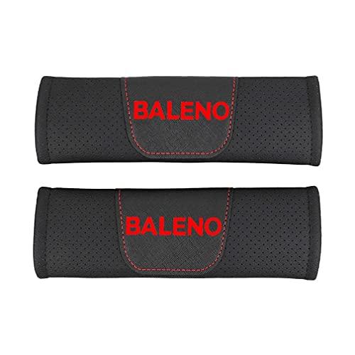 NADAHHPP 2Pcs Coche Seguridad Cinturón Hombro Cinturón Almohadillas, para Suzuki Baleno Seat Belt Cover Shoulder Pads, Protección Acolchado Cojín Interiores Accesorios(Red,Black)