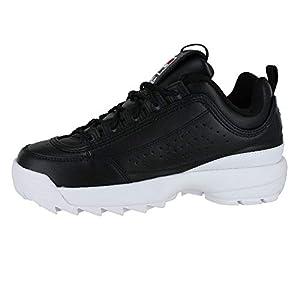 Fila Mens Disruptor II Prem. Fashion Shoes 1FM00685-014 Black/White/Red 12