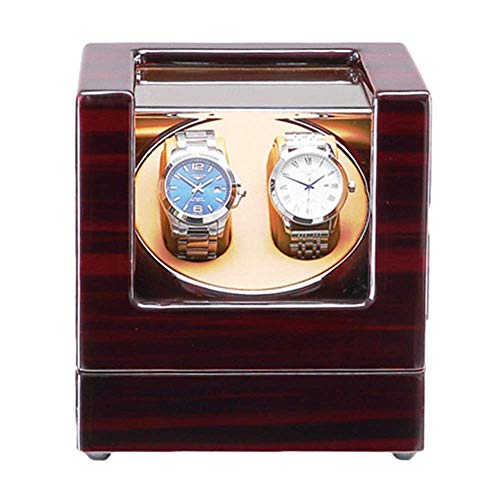ZHENAO Caja de Gordos Automática de Doble Reloj con Luz Led Azul Piano Pintura Pintura Acendiente Tiendo Acaptador de Ca Apagado Exclusivo/B