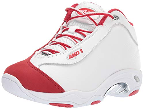 AND 1 mens Tai Chi Lx Sneaker, White/Chinese Red/Silver, 7.5 US