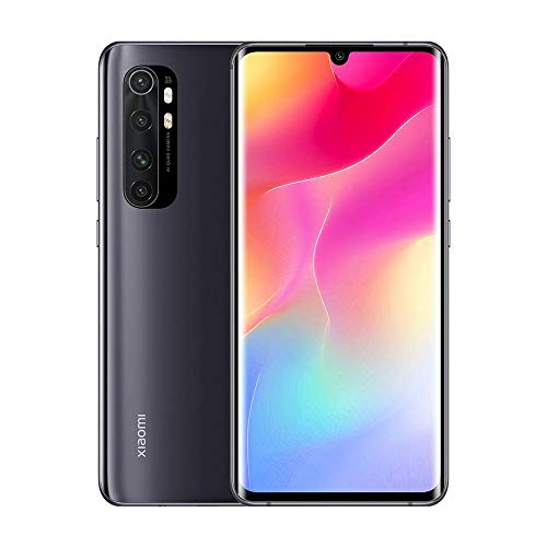 Xiaomi Mi Note 10 Lite - Smartphone de 6.47' (Pantalla curvada AMOLED 3D, 6 GB RAM, 64 GB ROM, cámara Quad de 64 MP, batería de 5260 mAh) Midnight Black [International Version]