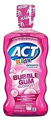 ACT Kids Anti-Cavity Fluoride Rinse Bubblegum Blowout  Children's Mouthwash with Fluoride & Exact Do