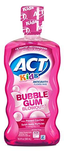 ACT Kids Anti-Cavity Fluoride Rinse Bubblegum Blowout...