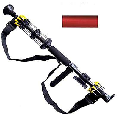 """18"""" .40 Caliber Tactical Blowgun with 10 Spear Darts, 8 Spike Darts, Sling, Tactical Mount, Pistol Grip and Peep Site (Black) from Venom Blowguns"""