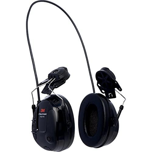 3M PELTOR ProTac III Slim Headset, Black, Hard Hat Attached