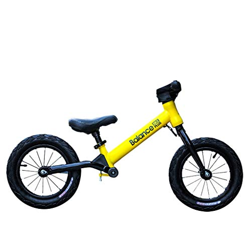 Darkduke 12 Inch Kids Two-Wheel Balance Car for Children 2-6 Years Old Kids Boys Girls Baby Balance Bike 2 Wheels for Toddlers No Foot Pedal(Yellow)