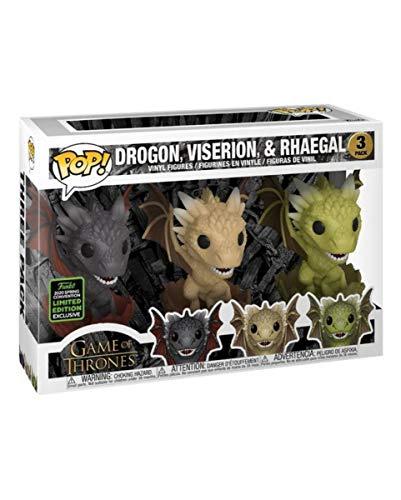 Horror-Shop Drogon, Viserion & Rhaegal Got Funko Pop! Set De 3