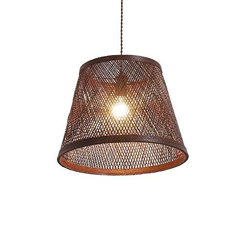 XUMINGDD hanglamp van bamboe, hanglamp, hanglamp van stof, hanglamp van rotan met LED-lampen voor woonkamer, bar