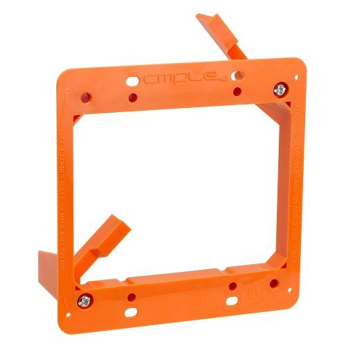 Cmple - Low Voltage Mounting Bracket 2 Gang Multipurpose Drywall Mounting Wall Plate Bracket – Dual Gang