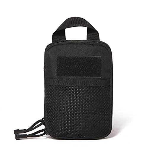 XIOFYA 1pc 600d Nylon Bolso táctico Molle al Aire Libre Moldera Militar Paquete Fanny Pack Teléfono Móvil Punto de Móvil Cinturón Bolso de la Cintura EDC Gean Bag Gadget (Color : Negro)