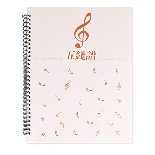 HJHJ Composition Notebooks Loose Leaf Notebook Blank Sheet Piano Music Notebook Kids:Music Clef Notebook (10.1'x8.2') Perfect for Kids Learning Manuscript notebooks (Color : 1-Pack)