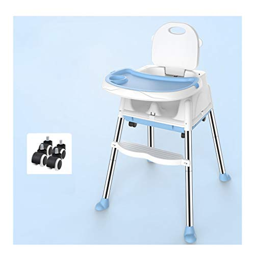 Kinderstoel, 2 in 1 met afneembare verstelbare kinderstoel lade met de voertuigfunctie Blauw-b