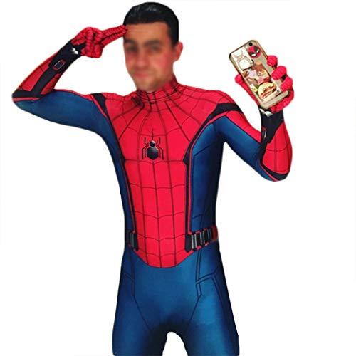 QWEASZER Spider-Man: Homecoming, Costume Spiderman Costume Anime Zentai Costume Adulte Hommes Film Costumes Cosplay Déguisements Jumpsuit Onesies,Spiderman-140~150cm