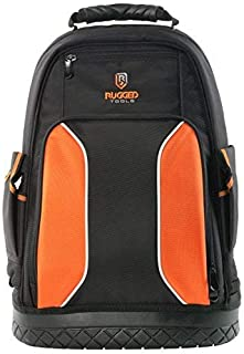 Rugged Tools Pro Tool Backpack - 40 Pocket Heavy Duty Jobsite Tool Bag Perfect Storage & Organizer for a Contractor, Electrician, Plumber, HVAC, Cable Repairman