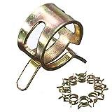 Fashion SHOP Abrazaderas 10pcs / Set Clips de Resorte Banda Manguera de Combustible de Silicona Reutilizables Abrazadera de Tubo Opcional Abrazadera 6mm 7mm 8mm 9mm 10mm 11mm 12mm 13mm 14mm 15mm Fijo