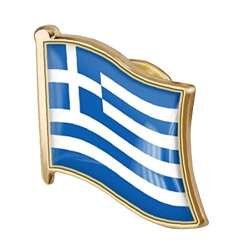 TOSSPER 1pc Bandera Griega Pin del Esmalte del Metal Pin De La Solapa De La Bandera Griega Broche De La Insignia Nacional De La Novedad De Accesorios