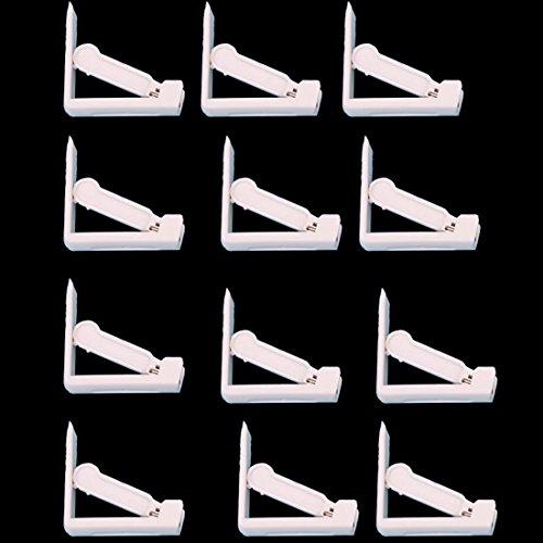Glield 12 Piezas Plástico Blanco Mantel de Clips Pinzas Sujeta Manteles BDJ08