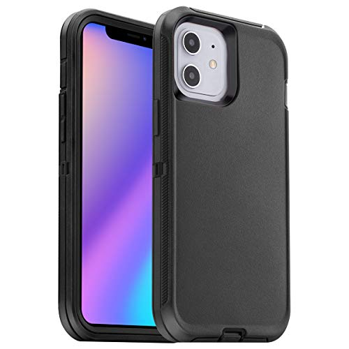 AICase Compatible with iPhone 12 Mini Case (2020) 5.4-inch, Drop Protection Rugged Heavy Duty Case, Shockproof/Drop/Dust Proof 3-Layer Protective Tough Durable Cover